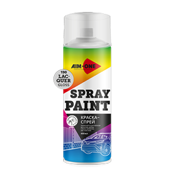 Spray paint lacquer gloss