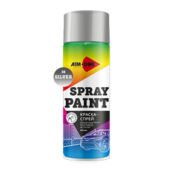 Spray paint silver