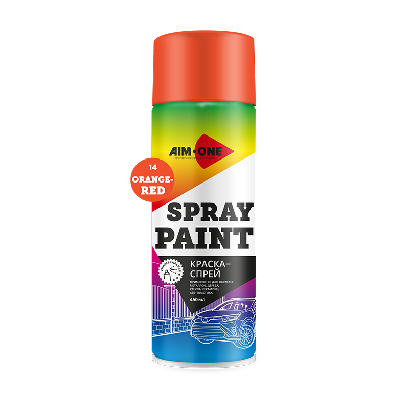 Spray Paint orange-red