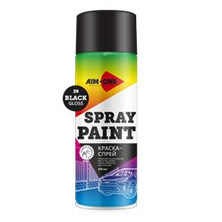 Spray paint black gloss
