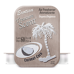 Treasure Scent Tin. Coconut