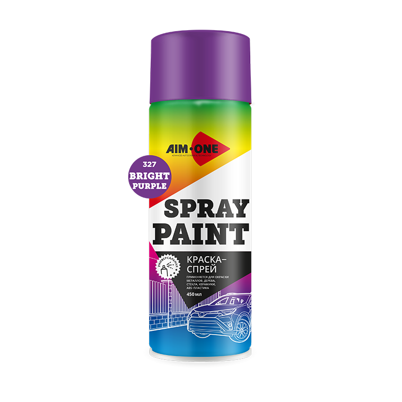 Spray Paint bright purple
